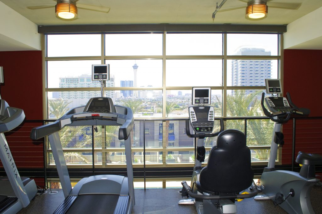 Workout facility at Juhl in Las Vegas.