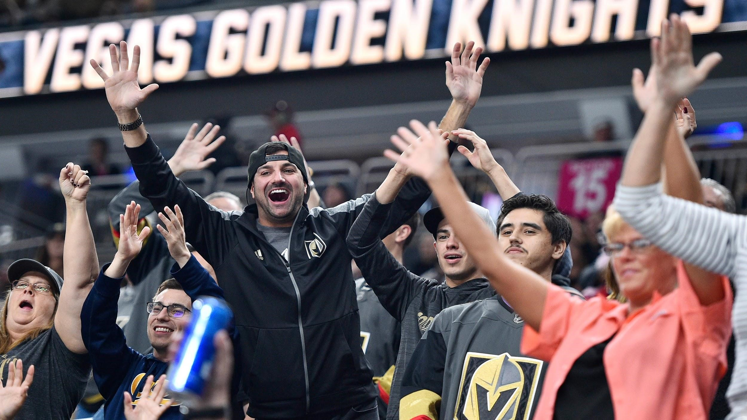 Las Vegas Golden Knights fans celebrating win