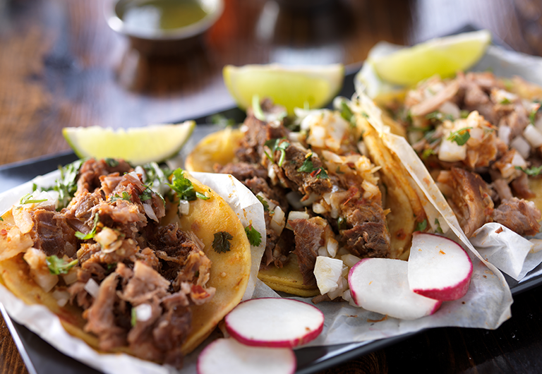 A plate of Mexican tacos