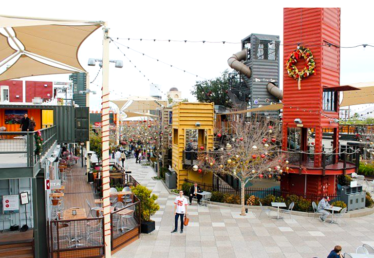 Holiday Decorations at Downtown Container Park in Las Vegas