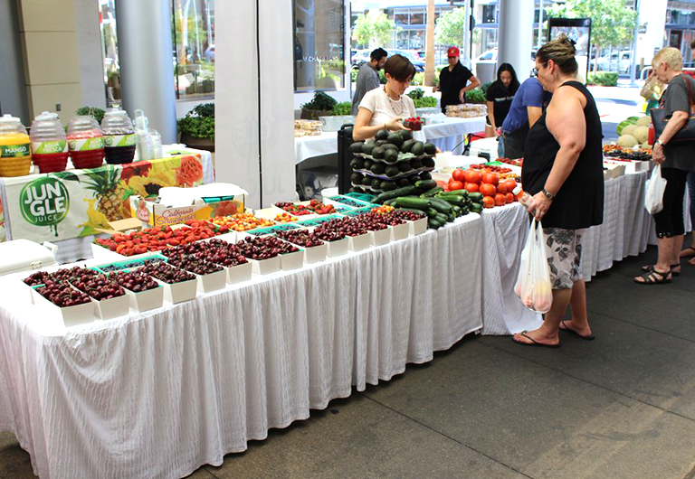 Produce stand at a past Las Vegas farmers market at Downtown Summerlin