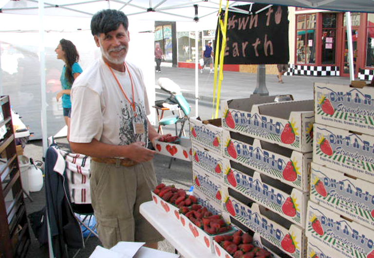 Produce vendor at FEED Las Vegas farmers market