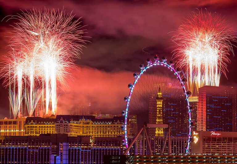 Fireworks show in Las Vegas