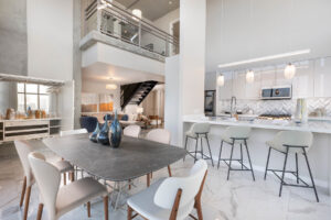 two-story condo with open concept